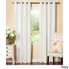 Decorate Your Windows With Color And Texture This Bold Faux Silk Curtain Panel The Deep Green Of Accents Most Ro