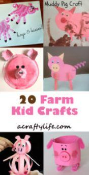 Pig Kid Crafts – Fun Animal Farm Theme - A Crafty LifeYou can find Farm theme and more on our website.Pig Kid Crafts – Fun Animal Farm Theme - A Crafty Life Farm Theme Crafts, Farm Animal Crafts, Pig Crafts, Animal Crafts For Kids, Daycare Crafts, Fun Crafts For Kids, Toddler Crafts, Preschool Crafts, Easy Crafts