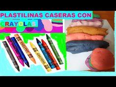 Como hacer PLASTILINA CASERAS CON CRAYOLAS   DIY CRAYON PLAYDOUGH - YouTube