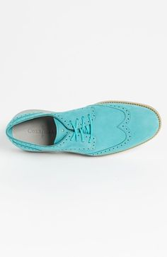 Mint Alert! Cole Haan LunarGrand Wingtip... Cole Haan has some cool shoe colors right now.  Nice for a bold pop of color