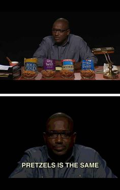 The show tackles the tough questions we all need to know the answers to. For example, what's the deal with pretzels?