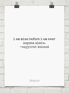 Nayyirah Waheed quote