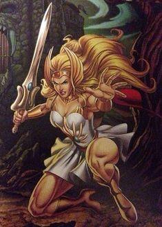 Try to take the Sword of Protection off her hand! She-Ra, Princess of Power. Comic Movies, Comic Book Characters, Comic Books Art, Comic Art, Thundercats, Cartoon Shows, Cartoon Art, Gi Joe, Catwoman