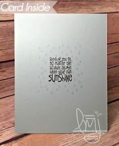 Miss You | Stampin' Up! | Sparkle & Shine | Ray of Sunshine | Stylin' Stampin' INKspiration #literallymyjoy #sunshine #showers #wemissyou #2016OccasionsCatalog