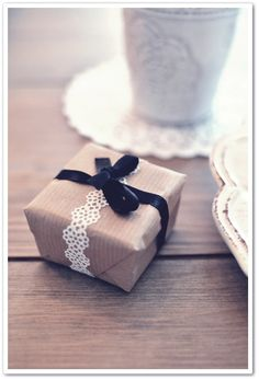 I love simple brown paper with embellishments.