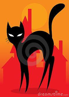 Black cat by Andrey Kopyrin, via Dreamstime