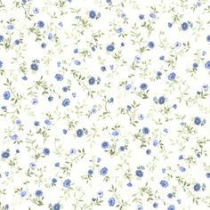 436-49228 - Rachelle Blue Floral Toss wallpaper. For your Bath II wallpaper has the new prepasted technology that makes it easy to paste and remove with ease. Collection is Brewster. Size of each doub