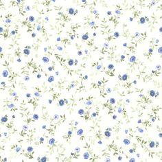 436-49228 - Rachelle Blue Floral Toss wallpaper
