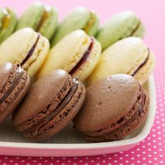 Chocolate-Hazelnut Macaroons. spring dessert recipes, mother's day desserts, ...