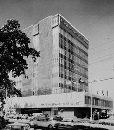 Edificio del primer del New York City Bank en San Juan,año 1961,Puerto Rico.