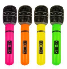 Inflatable Microphones Party Bag Fillers Toys Summer Fetes School Fundraising