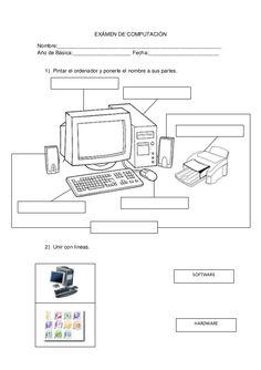 Dibujos de las partes de la computadora para colorear