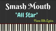 All Star - Smash Mouth ( EASY Piano Lyrics ) | Synthesia Lesson