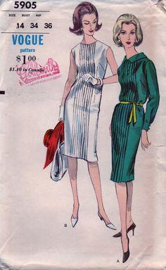 Vintage Vogue Pattern 5905 UNCUT & FF Lovely Sheath by anne8865