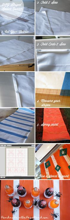 DIY Striped Spider Runner Tutorial. HandmadeintheHeartland.com