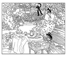To print this free coloring page «coloring-monet-drapeaux», click on the printer icon at the right