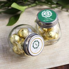 Wedding Favors » 20 Unique and Cheap Wedding Favor Ideas Under $2 » Personalized Wedding Themed Candy Jars