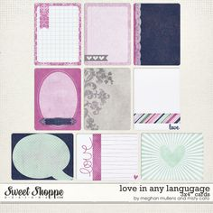 Love in Any Language Journal Cards