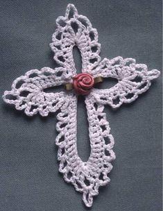 Maggie's Crochet · Free Lace Cross Pattern