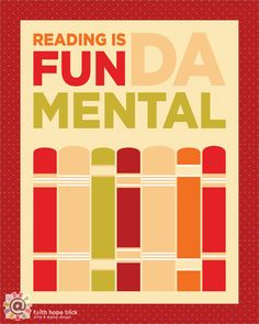 Reading is Fundamental, 8x10 inch Print. $ 15.00, via Etsy.