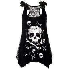Pinterest ❤ liked on Polyvore featuring skull and tops