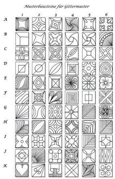 Musterbausteine   Artistic Line Designs-all free   Scoop.it