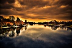 Serpentine, Hyde Park, London by daveograve@, via Flickr Hyde Park, River, Celestial, London, Sunset, Photography, Outdoor, Sunsets, Outdoors