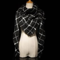 Za Winter Brand Cashmere Scarf Women Blanket Scarf Plaid Wraps long Scarf Women 2017 Pashmina Cashmere Shawls and Scarves tassel