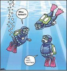 Pretty obvious when underwater LOL