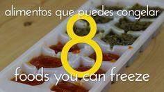 8 Alimentos que puedes congelar en cubiteras / 8 foods you can freeze in...