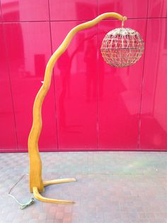 latest discovery in a flea market, vintage floor lamp in the style of  Maison Rispal ...anyone know who might have it designed?