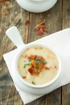 This sounds so good.   Dairy-Free Potato Soup from @galmission #dairyfree #soup
