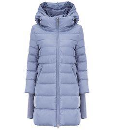 утепленное пальто с отделкой трикотажем VERALBA 165320000, купить недорого в Москве, каталог 2016, 2017, цена с фото, все размеры, доставка дешево в интернет-магазине Снежная королева
