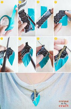 DIY Duct Tape Necklaces, yes you read right duct tape! These turned out so cute, video tutorial inside!