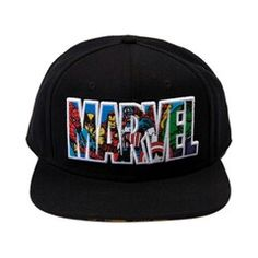 Shop for Marvel Collage Script Hat in Black at Journeys Shoes. Shop today for… Snapback Hats, Beanie Hats, Beanies, Hulk, Bone Bordado, Marvel Fashion, Emo Fashion, Flat Bill Hats, Flat Hats
