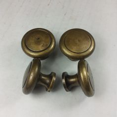 Pair of Solid Brass Knobs SKN107 by GadoGadoLtdEdition on Etsy