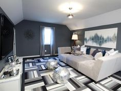 Comfy Movie Room in Rockin' Renos from HGTV's Property Brothers from HGTV