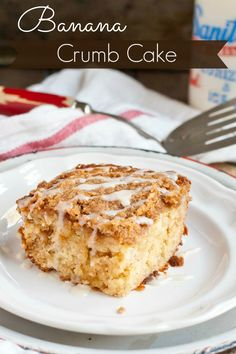 This Banana Crumb Cake is so moist and wonderful for breakfast or dessert.