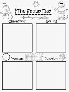 Worksheets for: Characters, Setting, and Events in Reading Comprehension section. Printables for Preschool and Kindergarten English Language Arts. Story Maps, Reading Activities, Teaching Reading, Winter Activities, Preschool Winter, Teaching Ideas, English Activities, Language Activities, Reading Skills