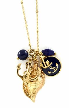 Nautical Anchor Shell Necklace ♥ Love