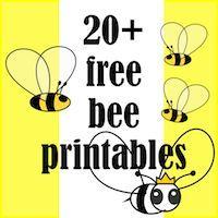☞ 20+ free bee themed printables - Bienen Druckvorlagen - links | MeinLilaPark – DIY printables and downloads