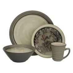 Sango 40-piece Bistro Black Stoneware Dinnerware Set | Overstock.com ...