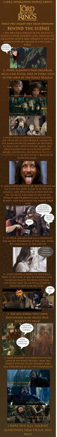 Fun facts about LOTR