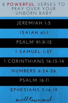 Pray these powerful verses over your unborn baby!