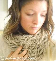 Arm Knitting – How To                                                               Arm Knitting – How To UPDATED!              Posted on              January 25, 2013            by              Maggie            in              Knit and Crochet