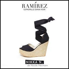 Espadrilles Ramirez Nikka verano 2015 modelo Diana noir disponible en tienda Ramirez Peru 587 y en nuestro Showroom Humboldt 1550 of 111 #ramirez #nikka #crueltyfree #espadrilles #diana #zapatos