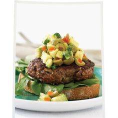 Olive and avocado-pesto burgers