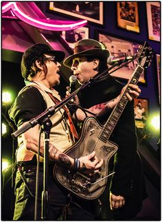 Marilyn Manson and Johnny Depp performing on stage at #STELLAmoeba – our…