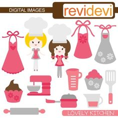 Domestic Goddess Baking Clipart Baking Party Clipart