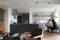 LDK1 Muji Home, Furniture Design, Kitchen Cabinets, House Design, Mansions, Dining, Interior, Table, Room